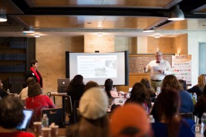giving presentation with George Geary at Kosher Food Blogger conference November 10, 2014 in New York City.